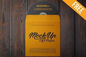 CD Paper – 2 Free PSD Mockups