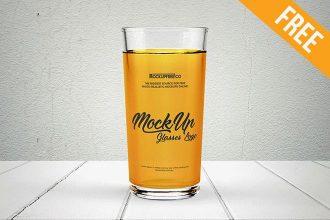 Glasses Logo – Free PSD Mockup