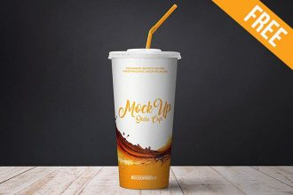 Soda Cup – 2 Free PSD Mockups