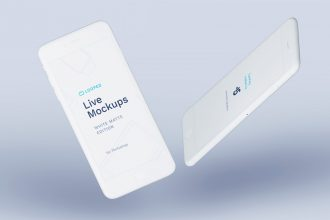 8 Free White Clay Devices mockups for personal and commercial projects!