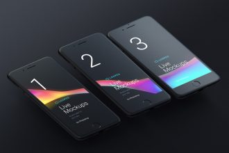 8 Free Black Matte Devices mockups for personal and commercial projects!