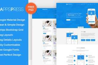 AppsPress – Free Applanding PSD template