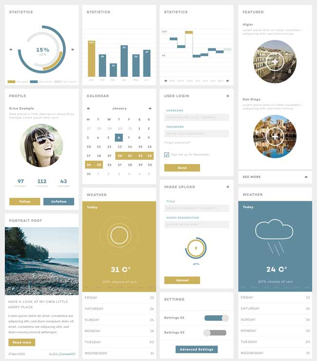 20 free psd ui kits elements for creating the best design