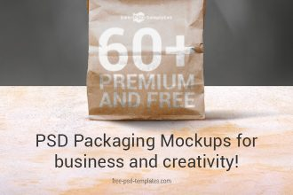 60+Premium & Free PSD Packaging Mockups for business and creativity!