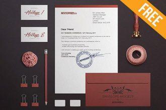 Craft Stationery Branding – 2 Free PSD Mockups