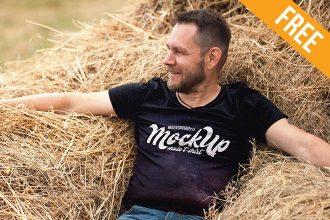 Male T-shirt – Free PSD Mockup