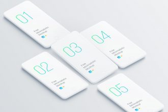 Free Minimalistic Phone Mockups for Your Presentations