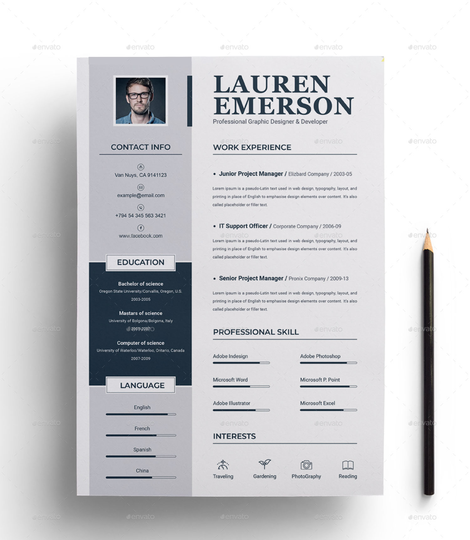 55+PREMIUM & FREE PSD CV RESUMES FOR CREATIVE PEOPLE TO ...