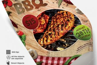 BBQ V02 – Free Flyer PSD Template + Facebook Cover