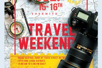 Travel Weekend – Free Flyer PSD Template + Facebook Cover