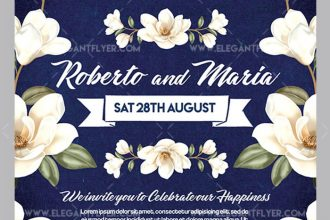 Wedding Reception – Free Flyer PSD Template + Facebook Cover