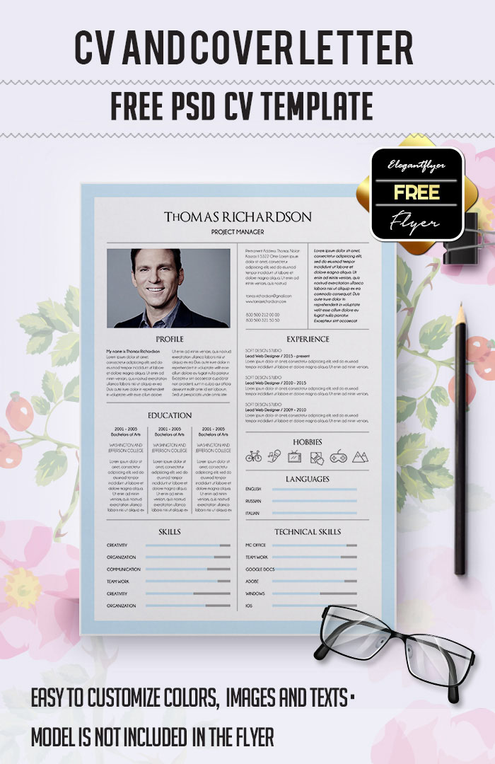 55 Premium Free Psd Cv Resumes For Creative People To Get The