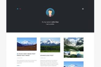 PERSONAL GRID – FREE WORDPRESS TEMPLATE