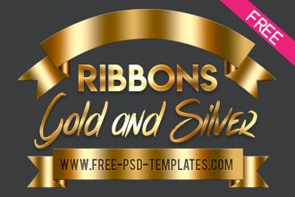 FREE Gold and Silver Ribbons
