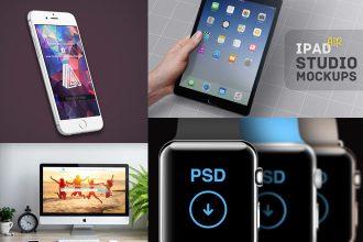 40 Awesome Apple iPhone, iPad and iMac PSD Mockups!