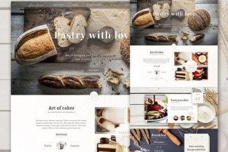 The Bakery Website – Free PSD