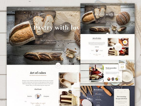 The Bakery Website Free PSD Free PSD Templates - Bakery brochure template free