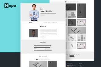 Hope : Free Simple Personal Portfolio PSD Template