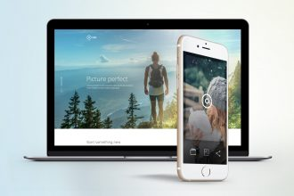 'Take' a free mobile app landing page PSD template