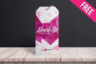 2 Free Fashion Label Mock-ups in PSD