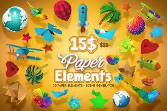 Paper Elements – Scene Generator