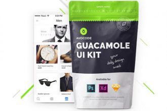 Guacamole – 3 in 1 Free UI kit for Photoshop, Xd & Sketch