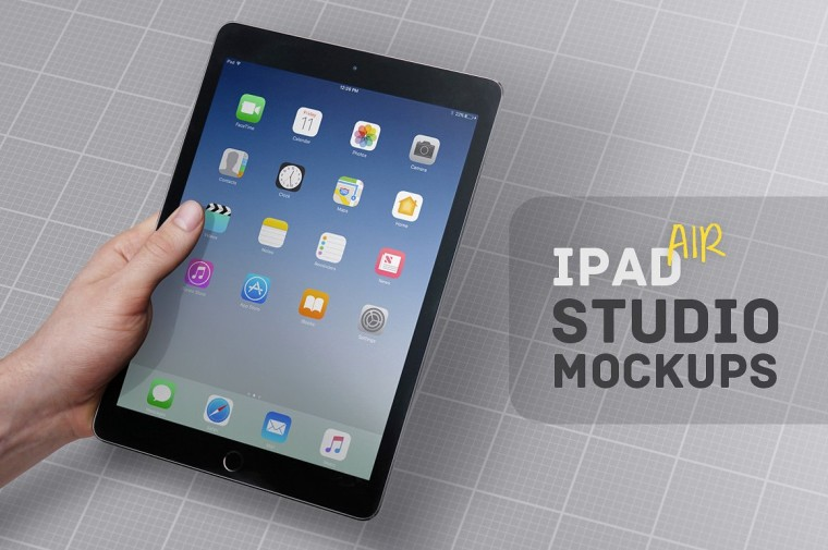 this ipad air mockup is fully customizable to replace the background or adjust the shadow or reflection strength - Ipad And Iphone Mockup
