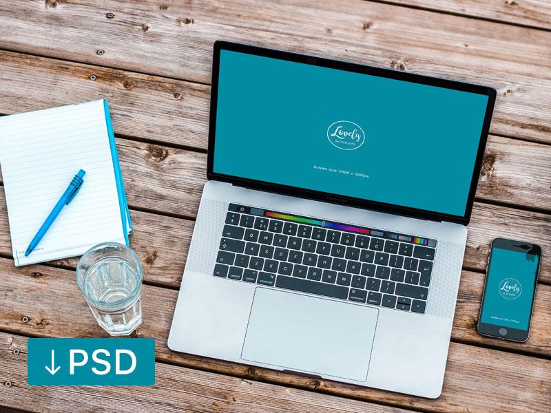 Macbook Ipad & Iphone 6 Workspace Mockups Free Download