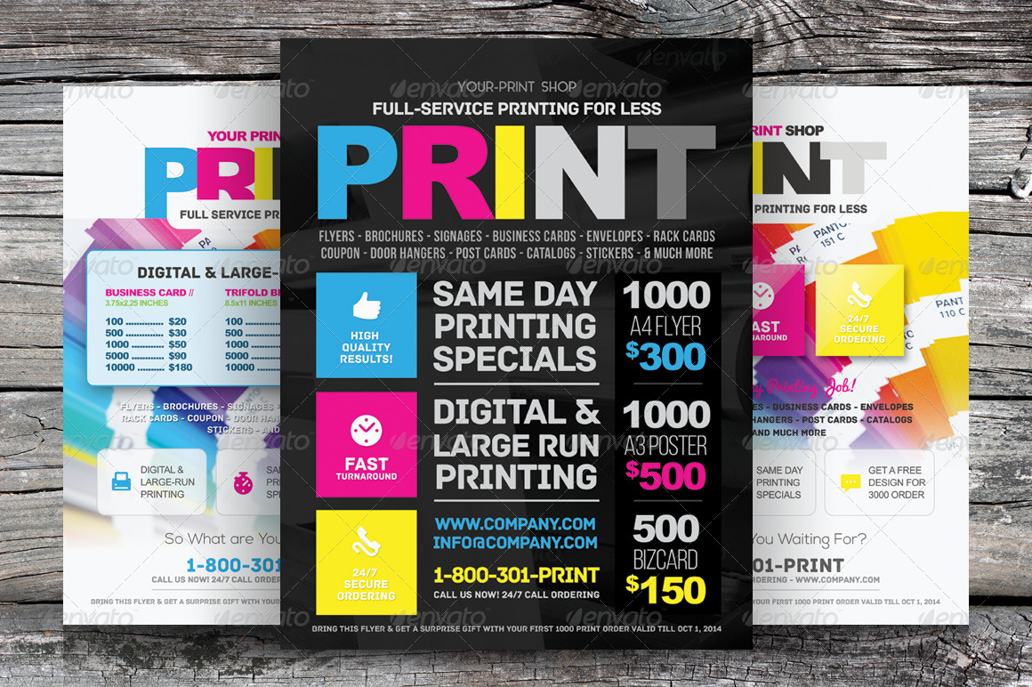 Poster template for marketing