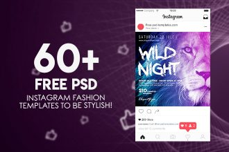 60+ PREMIUM & FREE PSD INSTAGRAM FASHION TEMPLATES TO BE STYLISH!