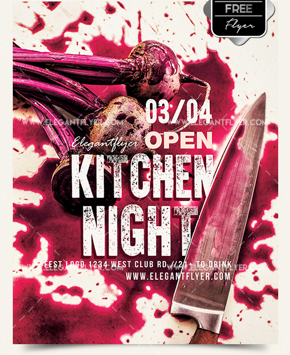 70 premium free flyer templates psd absolutely free to download kitchen night free flyer psd template facebook cover download maxwellsz