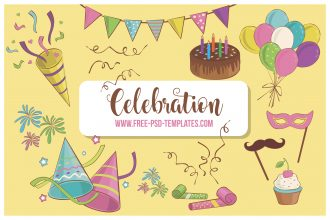 Free Celebration Clipart Images Vector Set