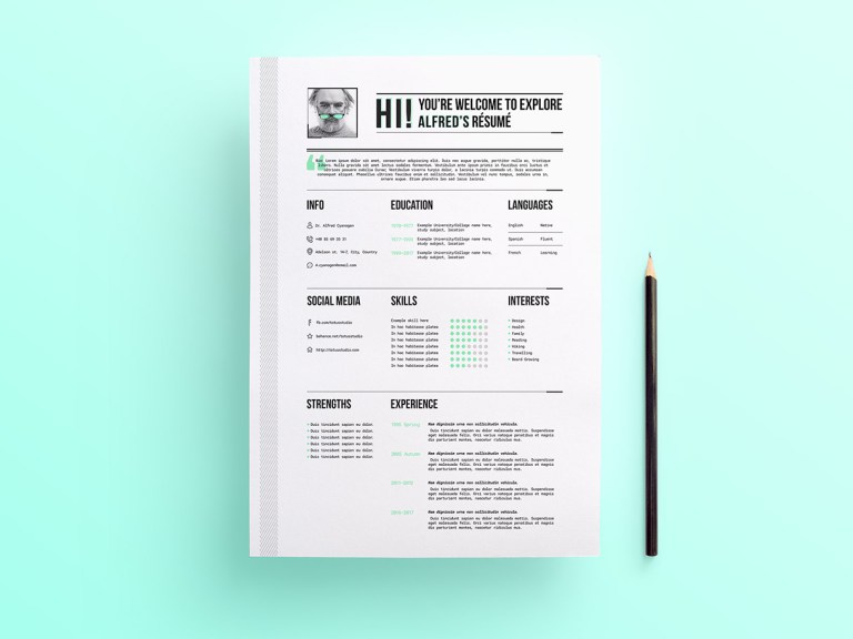 55+PREMIUM & FREE PSD CV RESUMES FOR CREATIVE PEOPLE TO GET THE BEST ...