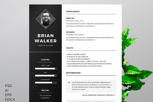 55 premium  u0026 free psd cv resumes for creative people to get the best job