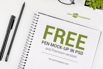 Free Pen Mock-up in PSD and Premium version!