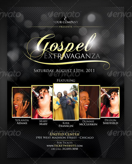 gospel flyer template free download