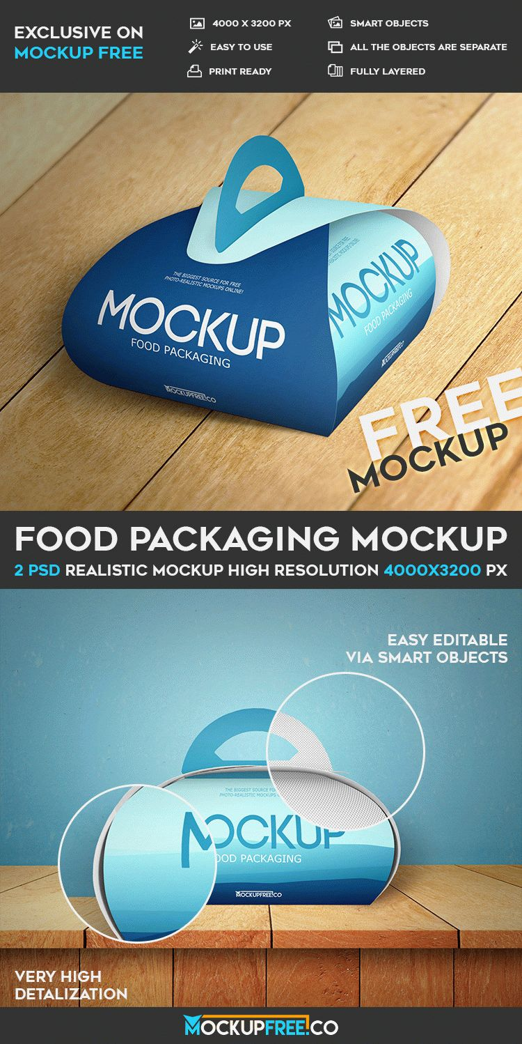 Food Packaging – 2 Free PSD Mockups | Free PSD Templates