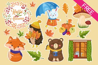 Free Autumn Stickers