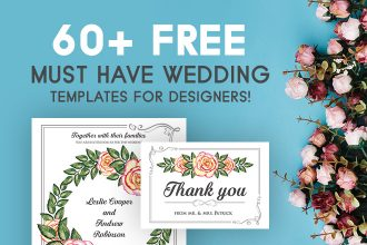 60+ Free Must Have Wedding Templates for designers!
