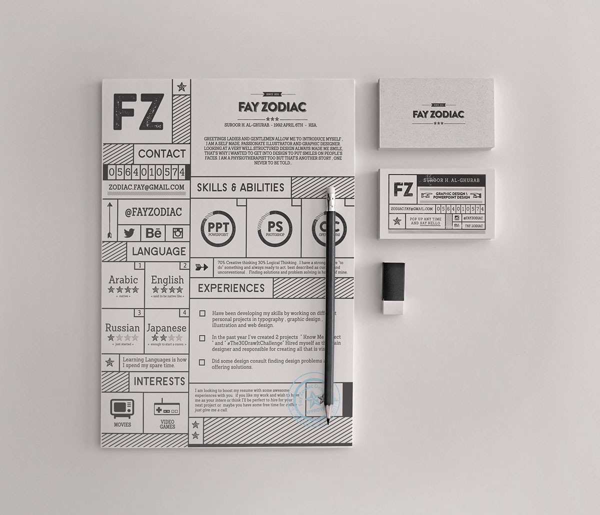 35+ Free PSD CV Resumes for creative people to Get the best Job ...