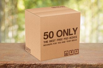 50 Only the Best Free PSD Boxes MockUps for you and your ideas!