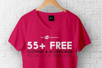 55+ Free Clothing & Accessories PSD Mockup templates!