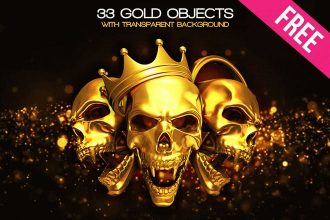 33 Free 3d Render Gold Objects Isolated in PNG