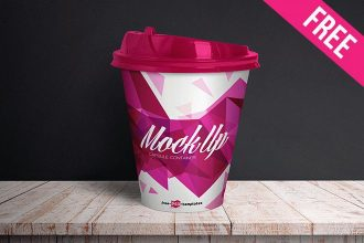 Free Capsule Container Mock-up in PSD
