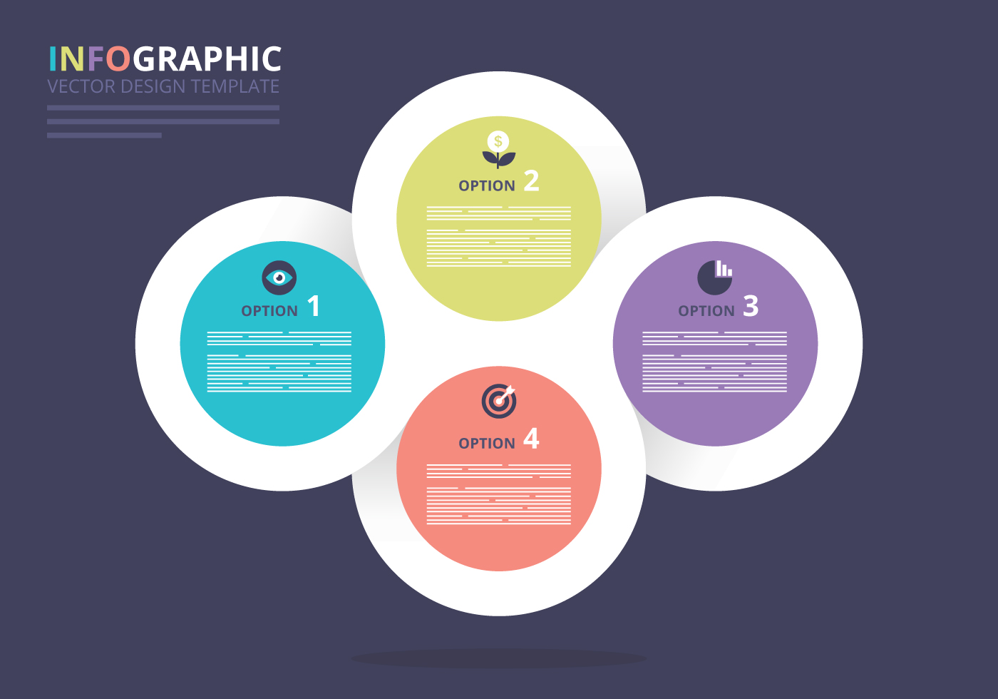 30 free infographic templates to download free psd templates four options linked circles origami business infographic option or steps presentation vector template with editable text and icons free download maxwellsz