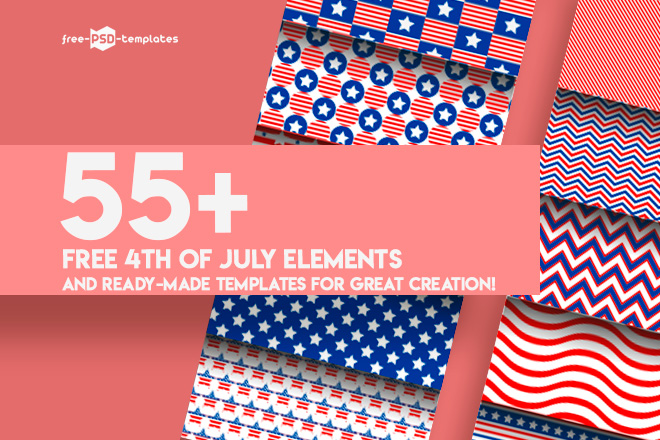 55 premium free 4th of july elements and ready made templates for