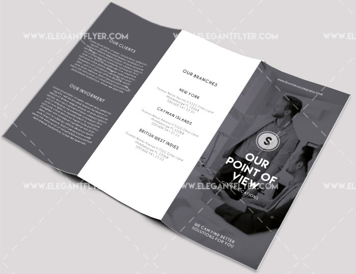 business free psd tri fold brochure template