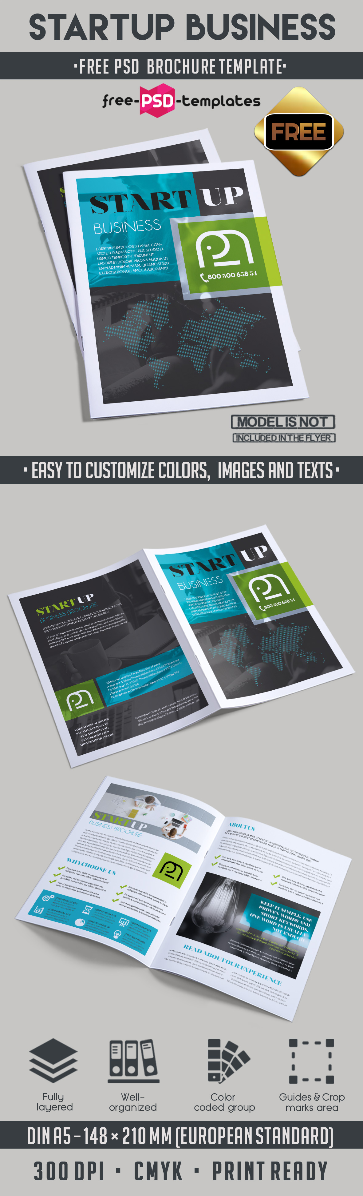 free brochure templates psd download - free startup business bi fold psd brochure template free