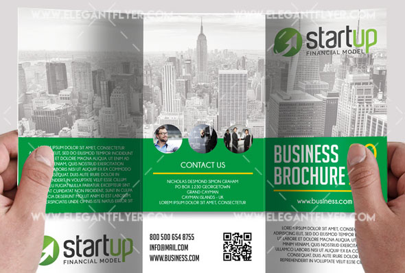 the business free psd tri fold brochure template