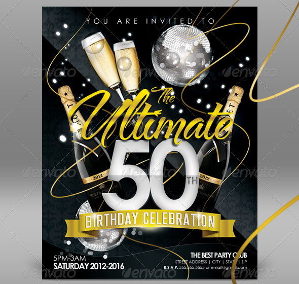 Free Birthday Invite Templates In PSD Free PSD Templates - Birthday party invitation flyer template